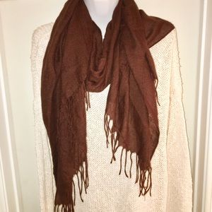 New brown soft scarf